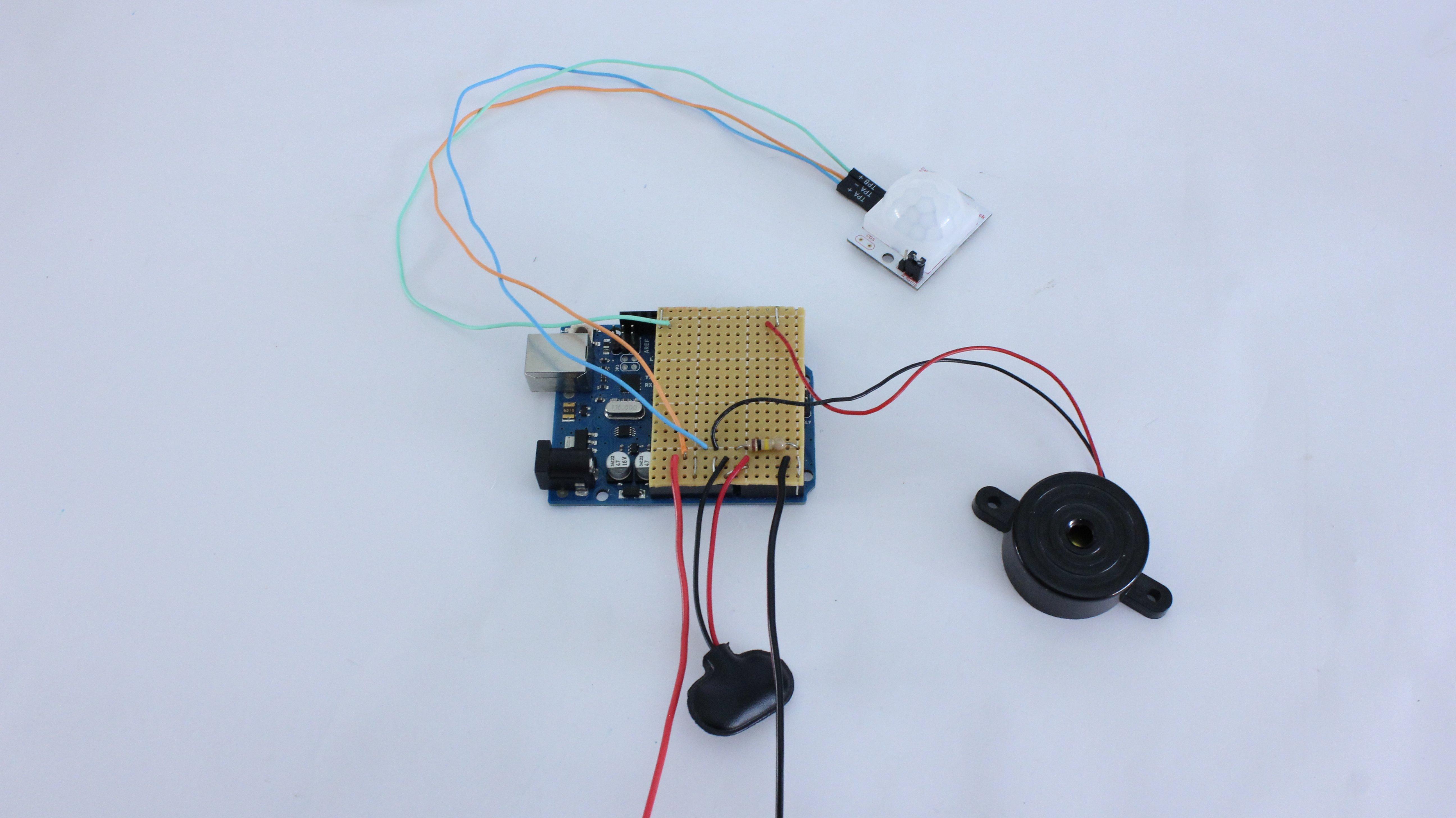 Motion-sensing alarm