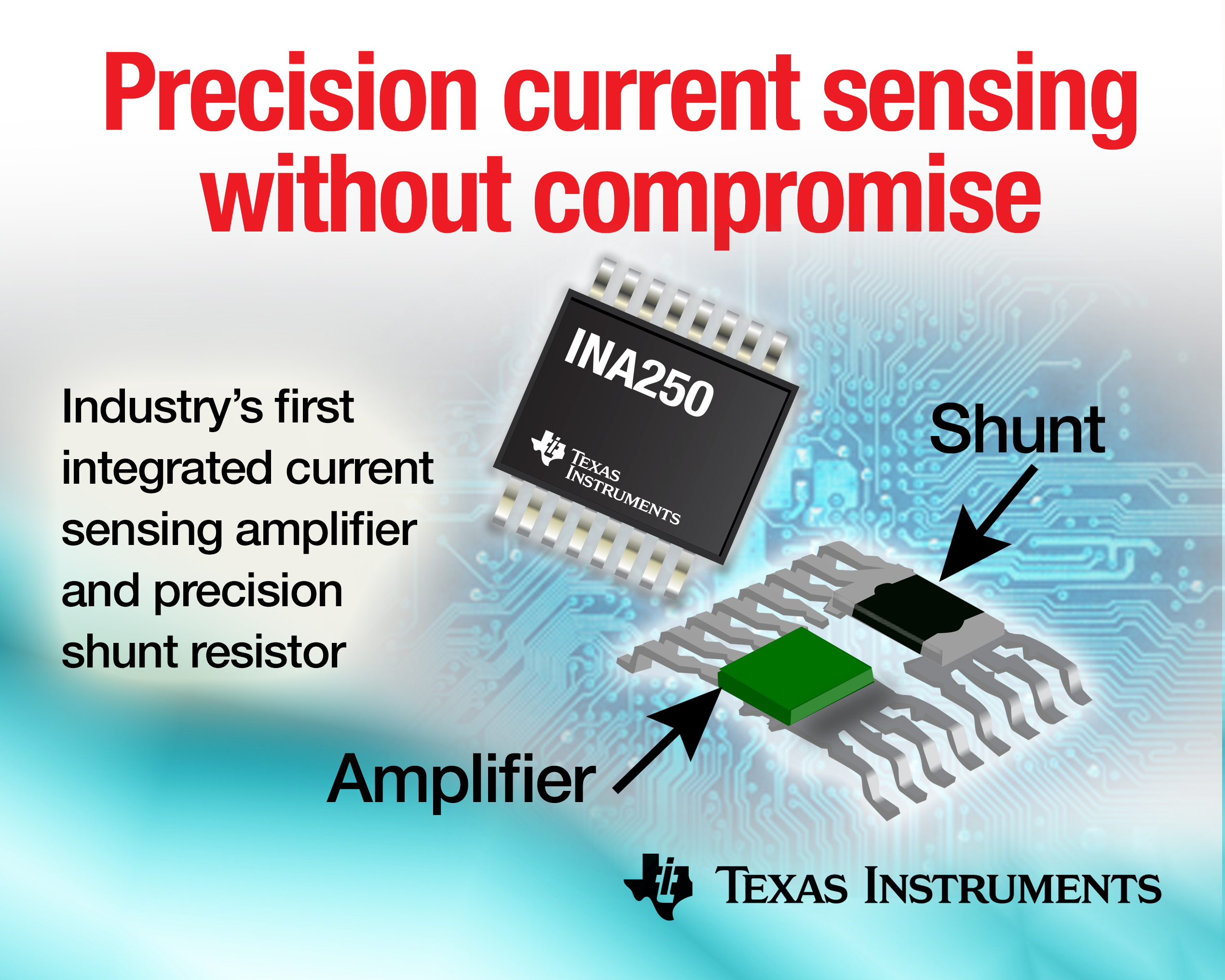 Industrys First Ti Current Sense Amplifier To Integrate A High Sensing Circuit Using Op Amp Ina250