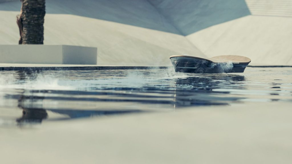 Lexus Hoverboard hovers over water at Hoverpark. (Image via Lexus International)