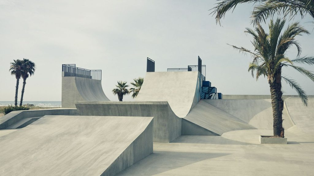Hoverpark created for Lexus Hoverboard testing. (Image via Lexus International)