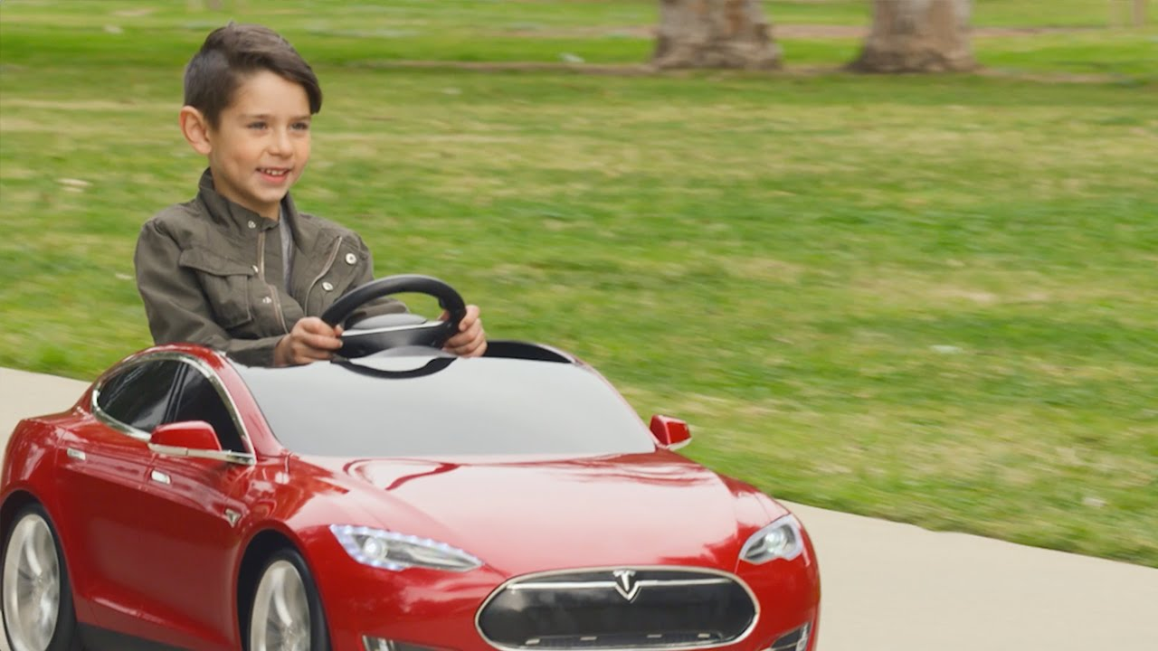 watch out for kids driving little tesla cars around the neighborhood eedesignitcom