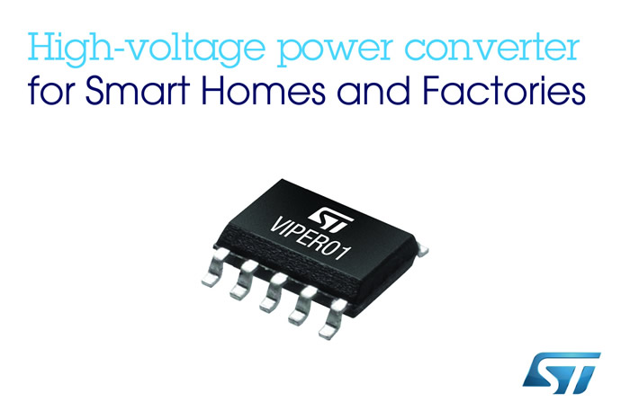 High-voltage power converter for smart homes and factories