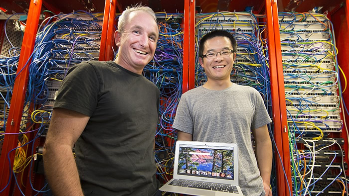 Professor Steve Blackburn and Xi Yang. Credit: Stuart Hay, ANU.