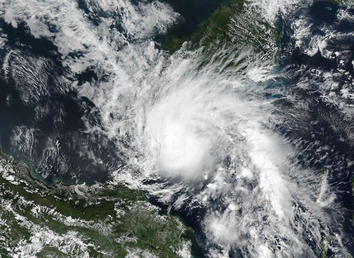 Tropical Storm Otto being watched over by NASA satellites