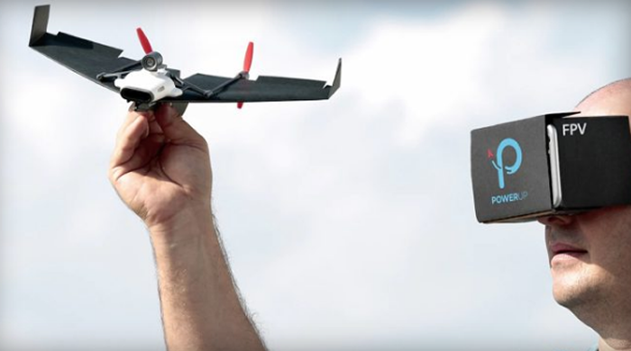 I believe I can fly   in a paper-airplane drone