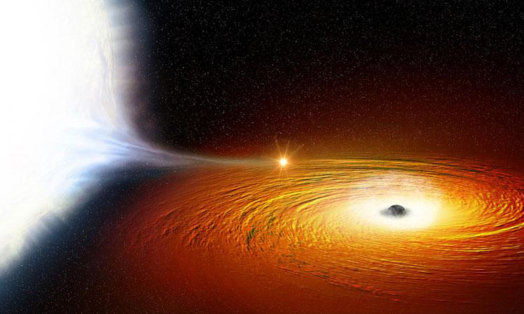 Star whips around black hole twice an hour