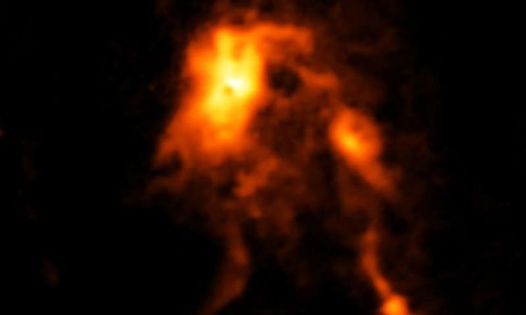 Protostar roars to life, brighter than before
