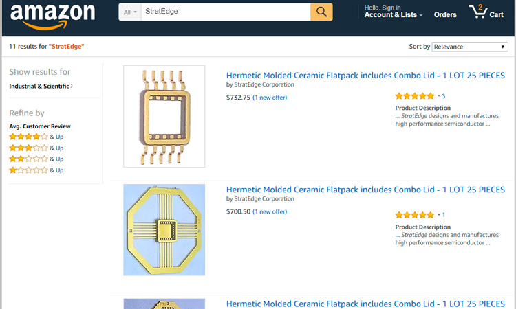 High performance packages can now be purchased on amazon for Amazon design shop