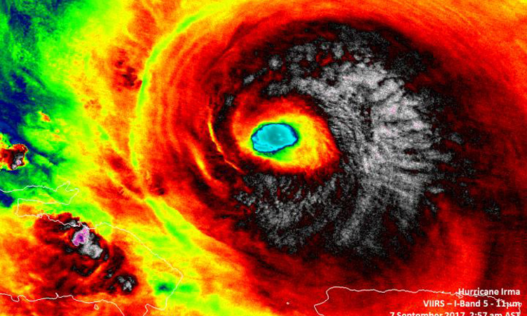 Satellite Shows The Several Shades Of Hurricane Irma
