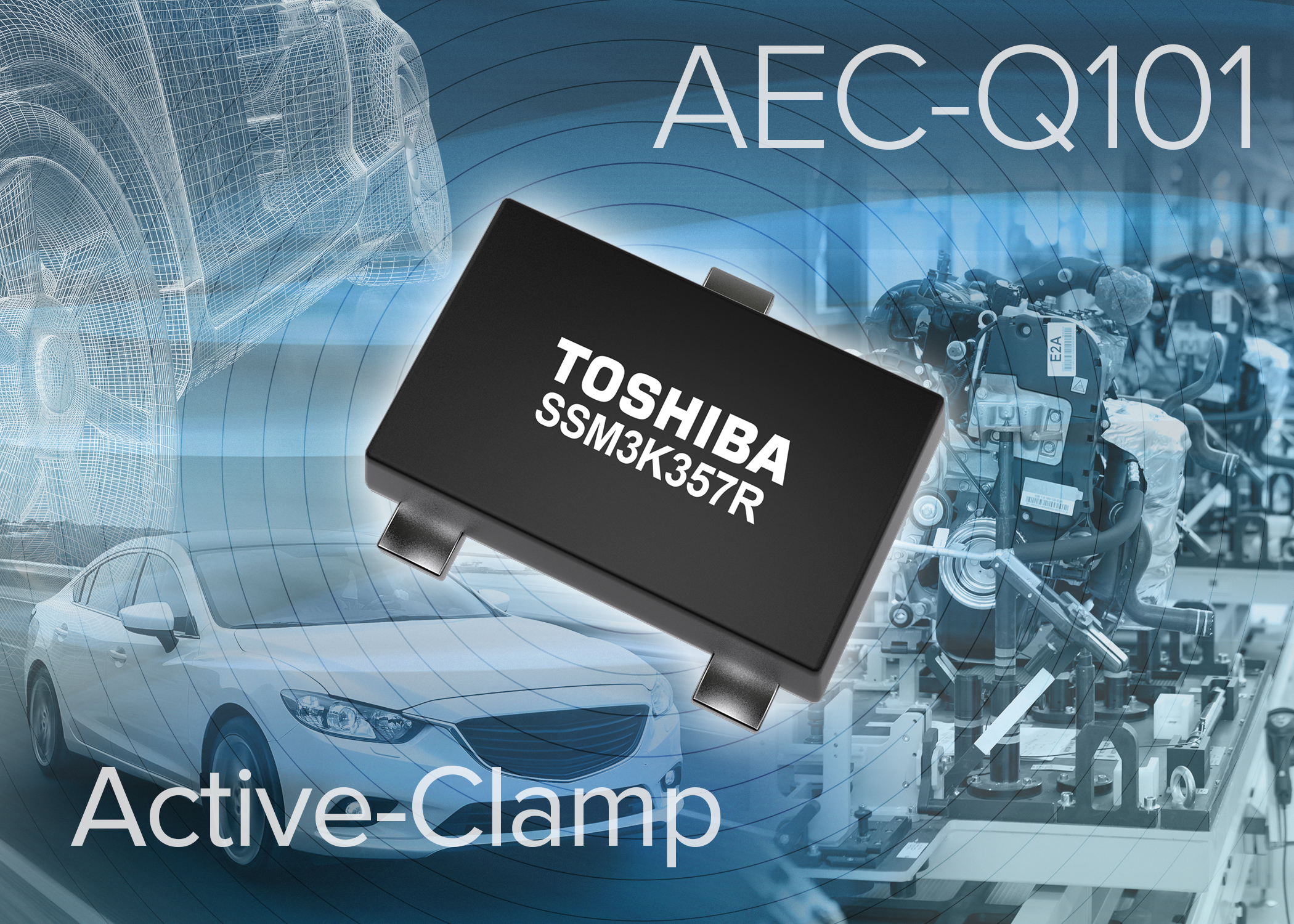 Toshiba Launches active-clamp MOSFET series for relay drivers